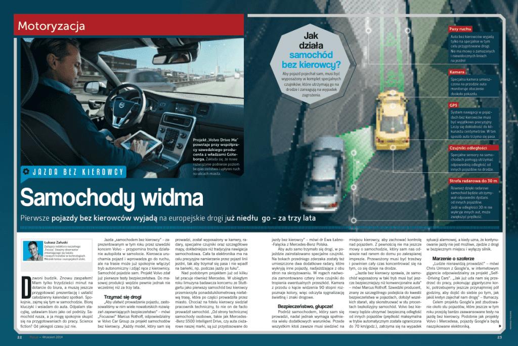 samochody autonomiczne artykuł focus łukasz załuski