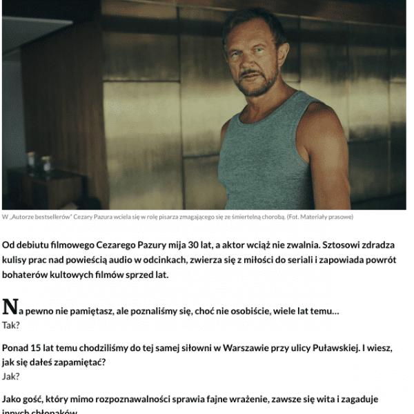 Cezary Pazura audiobook storytel wywiad