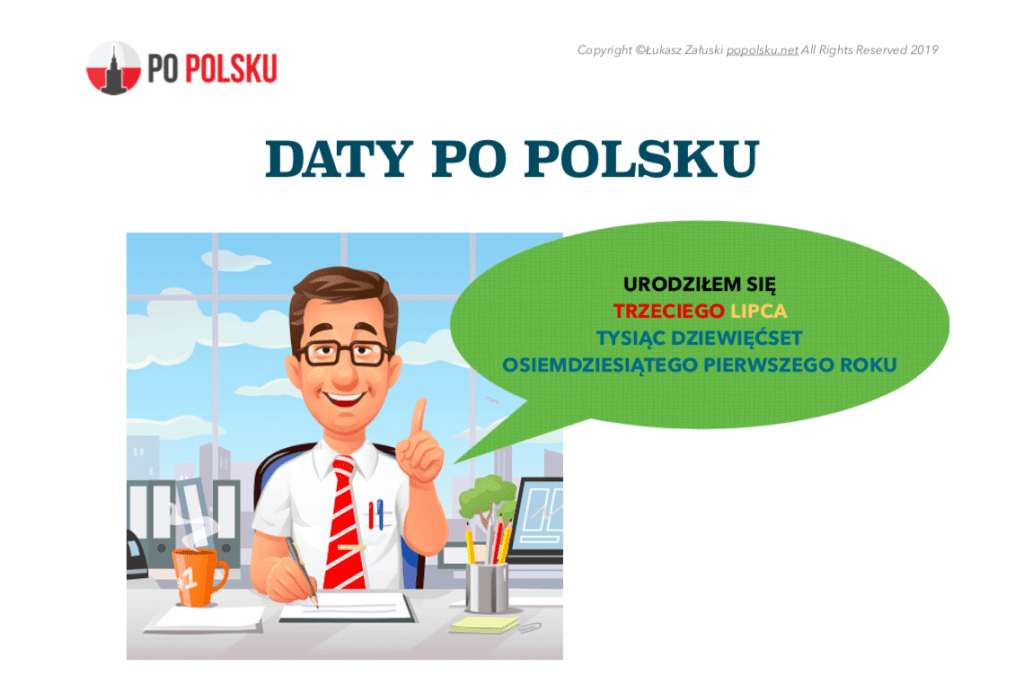 daty po polsku dates in Polish language